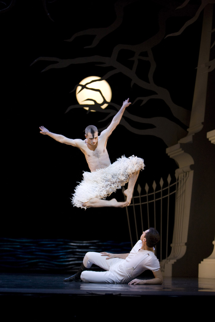 Matthew Bourne's Swan Lake, Richard Winsor Midair & Christopher Marney