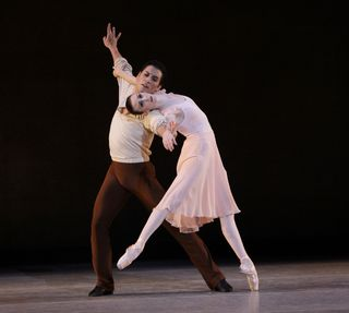 Elisabeth Holowchuk and Michael Cook peform In Memory Of. . . photo by Carol Pratt