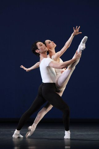 Natalia Magnicaballi and Michael Cook in Movements for Piano and Orchestra.Photo by Carol Pratt