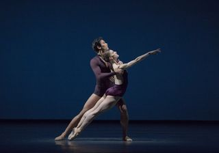 Marianela Nunez and Ryoichi Hirano in Viscera. Photo Andrej Uspenski, courtesy of ROH.