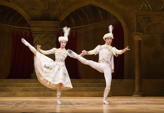 Christina Arestis and Ryoichi Hirano in Raymonda Act III. Photo Tristram Kenton, courtesy ROH