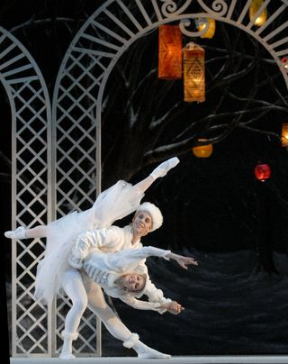 Sarasota Ballet's Danielle Brown and Ricardo Graziano in Les Patineurs photo by Linda Spillers