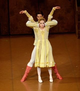 "Alicia Amatriain (Katharina) and Alexander Jones (Petruccio) in ""The Taming of the Shrew"", Stuttgart Ballet 2013, Copyright Stuttgart Ballet"