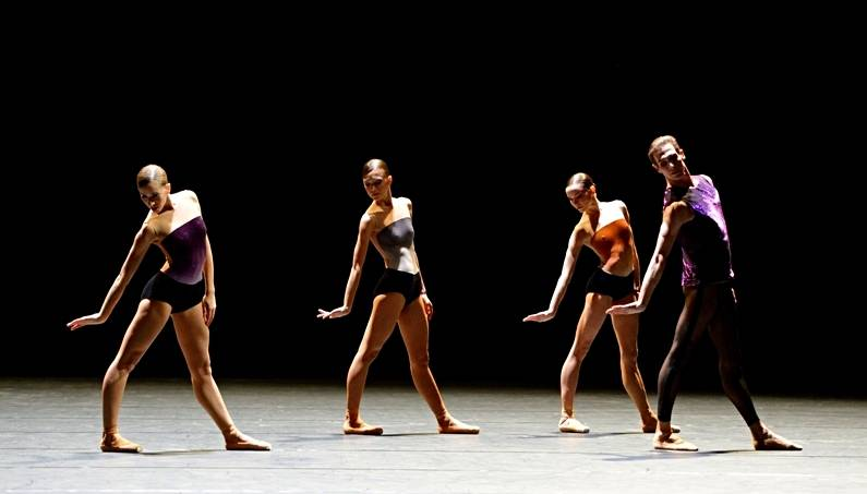 "2. Rachele Buriassi, Rocio Aleman, Miriam Kacerova and Evan McKie, ""workwithinwork"" by William Forsythe, Stuttgart Ballet 2013"
