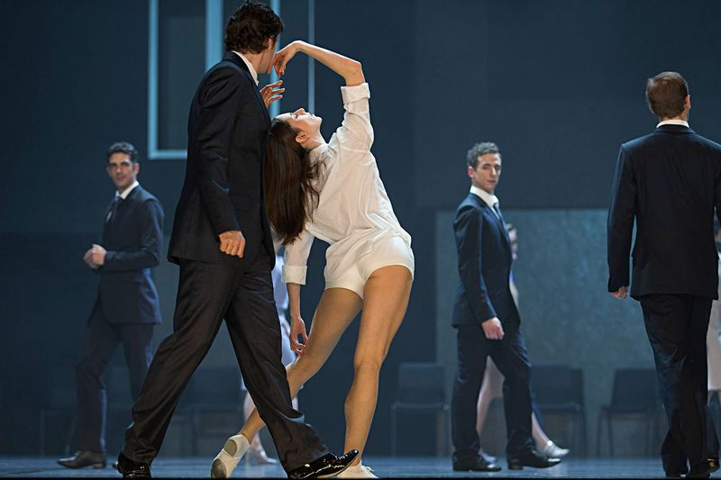 "4. Milán Madar (Count Paris), Julia Weiss (Juliet) and ensemble, ""Romeo and Juliet"" by Stijn Celis, Semper Opera Ballet 2014"