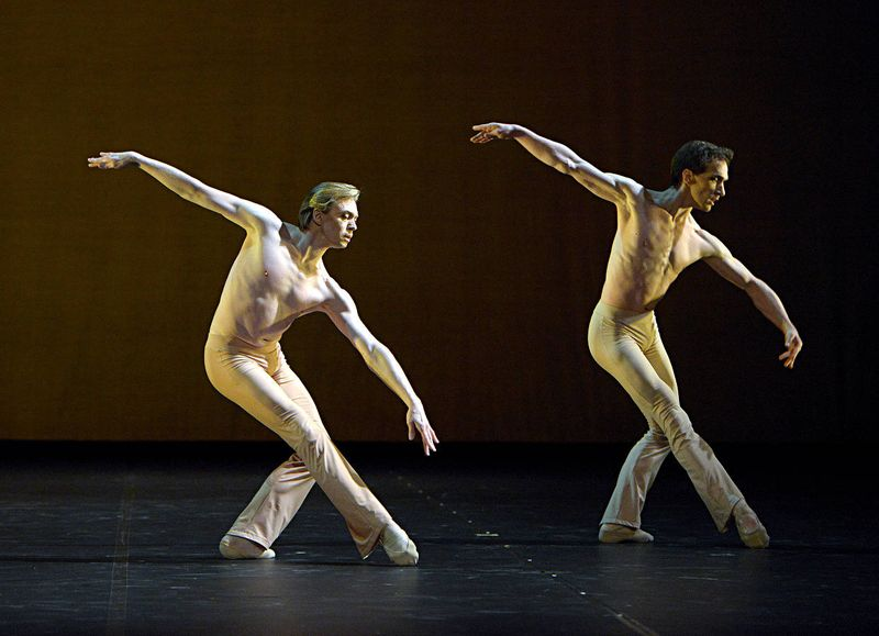 "2. Vladimir Malakhov and Mikhail Kaniskin, ""Clear"" by Stanton Welch, State Ballet Berlin 2014"
