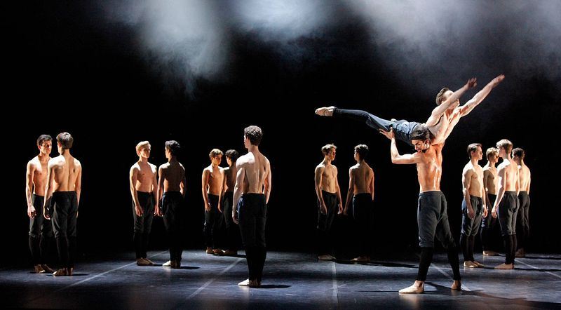"3. Constantine Allen, Roman Novitzy, Brent Parolin and ensemble, ""No Men's Land"" by Edward Clug,  Stuttgart Ballet 2014"