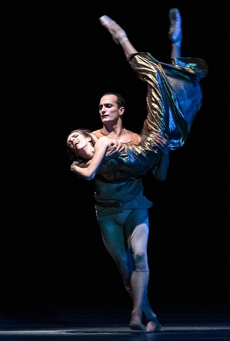 "11. Svetlana Gileva (Potiphar's Wife) and Jiří Bubeníček (Joseph), ""The Legend of Joseph"" by Stijn Celis,  Semperopera Ballet 2014"
