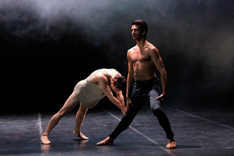 "2. Louis Stiens and Constantine Allen, ""No Men's Land"" by Edward Clug,  Stuttgart Ballet 2014"