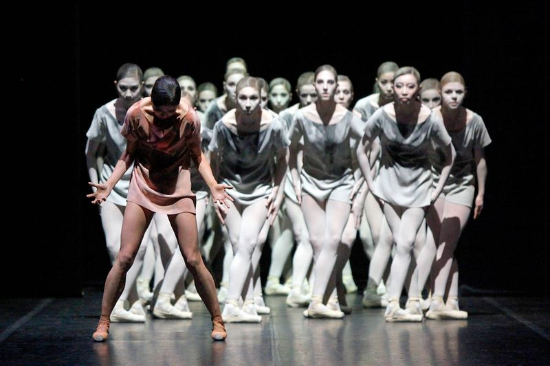 "4. Hyo-Jung Kang and ensemble, ""Aftermath"" by Demis Volpi, Stuttgart Ballet 2014"