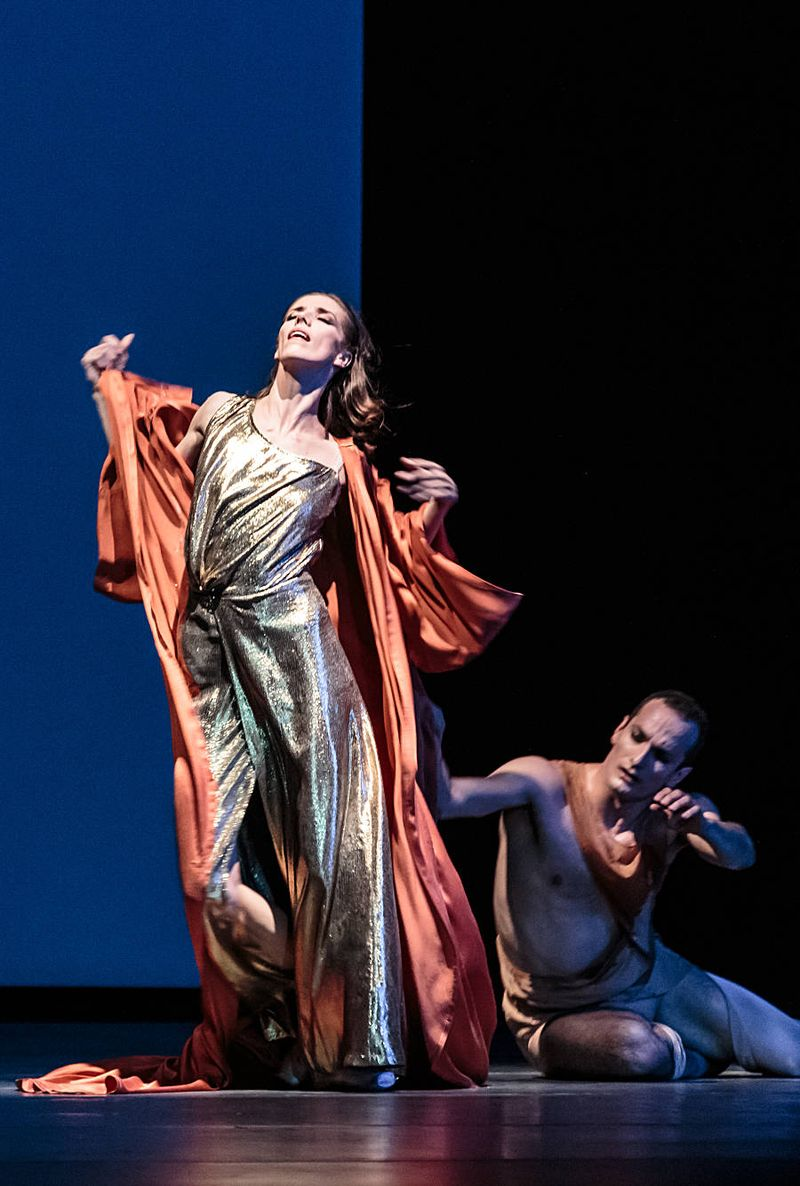 "8. Svetlana Gileva (Potiphar's Wife) and Jiří Bubeníček (Joseph), ""The Legend of Joseph"" by Stijn Celis,  Semperopera Ballet 2014"