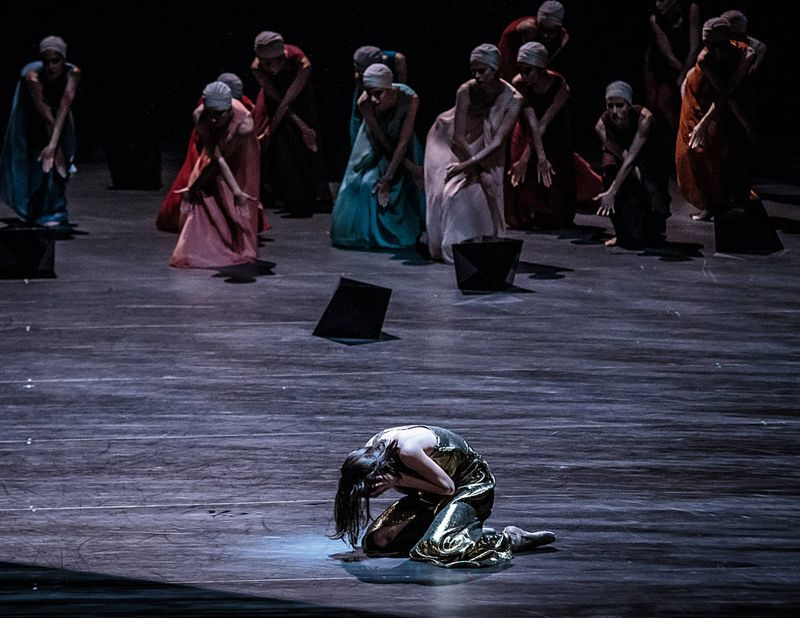 "14. Svetlana Gileva (Potiphar's Wife) and ensemble, ""The Legend of Joseph"" by Stijn Celis,  Semperopera Ballet 2014"