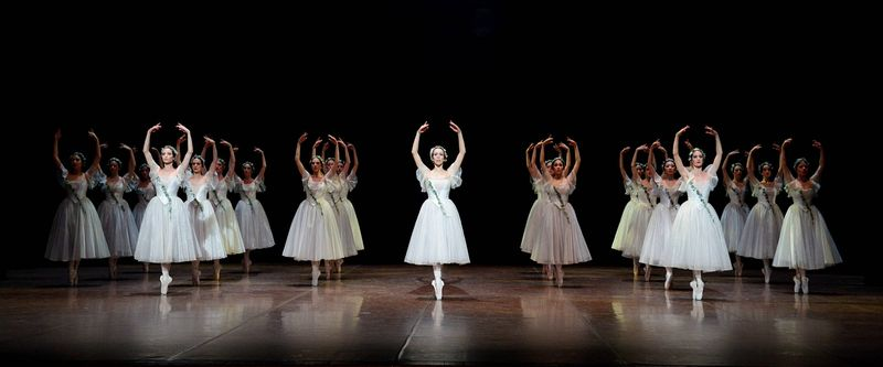 "6. Rachele Buriassi (Myrtha) and ensemble, ""Giselle"" after Jean Coralli, Jules Perrot and Marius Petipa, Stuttgart Ballet"