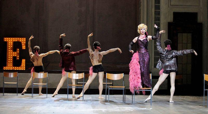 "1. Yuka Kakuta (L'Amour) and Stuttgart Ballet's ensemble (Suite de L'Amour) in 2009, ""Orphée et Euridice"" by Christian Spuck, Stuttgart State Opera and Stuttgart Ballet"