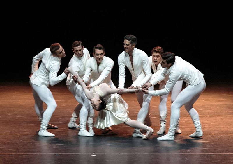 "4. Jón Vallejo, Francesco Pio Ricci, Michael Tucker, Laurent Guilbaud, Johannes Schmidt, Julian Lacey and Julia Weiss, ""Tanzsuite"" by Alexei Ratmansky, Semperopera Ballet 2014"