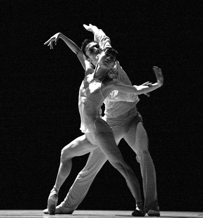 "6. Yumiko Takeshima and Raphaël Coumes-Marquet, ""The Grey Area"" by David Dawson, Semperopera Ballet 2014"