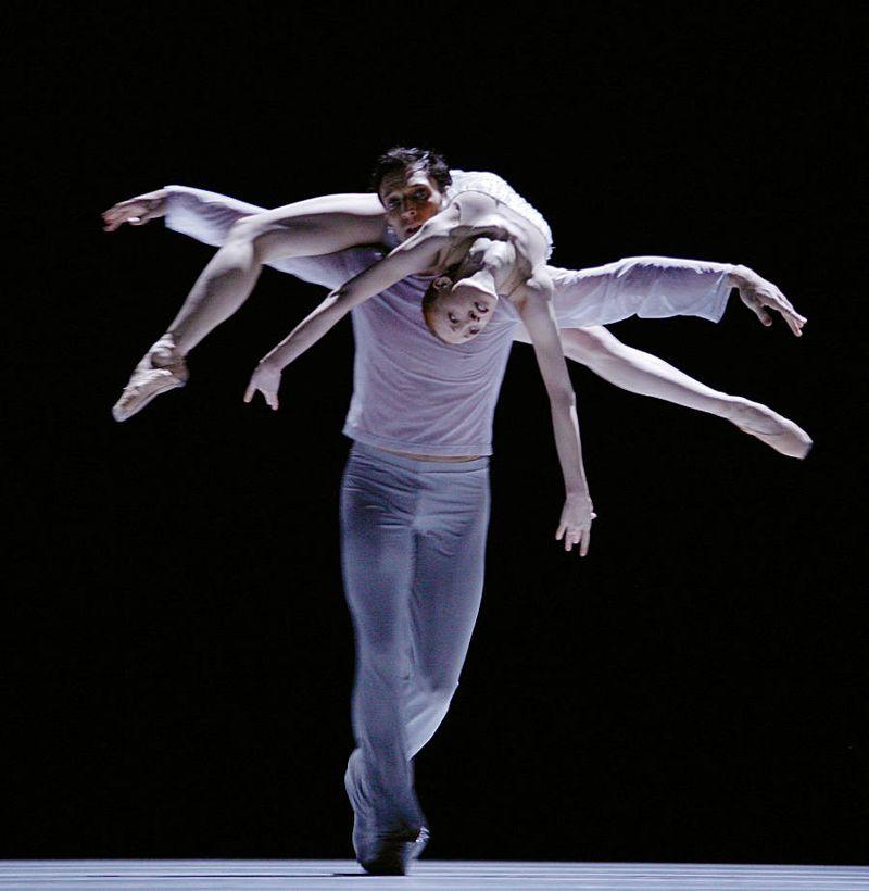 "7. Raphaël Coumes-Marquet and Natalia Sologub, ""The Grey Area"" by David Dawson, Semperopera Ballet 2014"