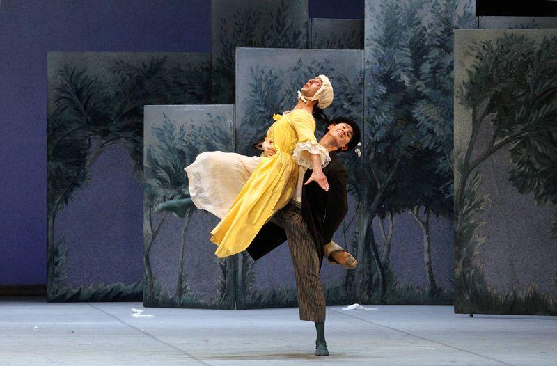 "1. Kiran West (Adam, Orlando's servant) and Konstantin Tselikov (Touchstone), ""As You Like It"" by John Neumeier, Hamburg Ballet 2014"