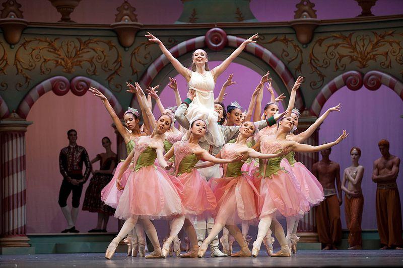 "8.  Anna Merkulova (Marie, adult), István Simon (Prince) and ensemble, ""The Nutcracker"" by Aaron S. Watkin and Jason Beechey, Semperopera Ballet 2014"