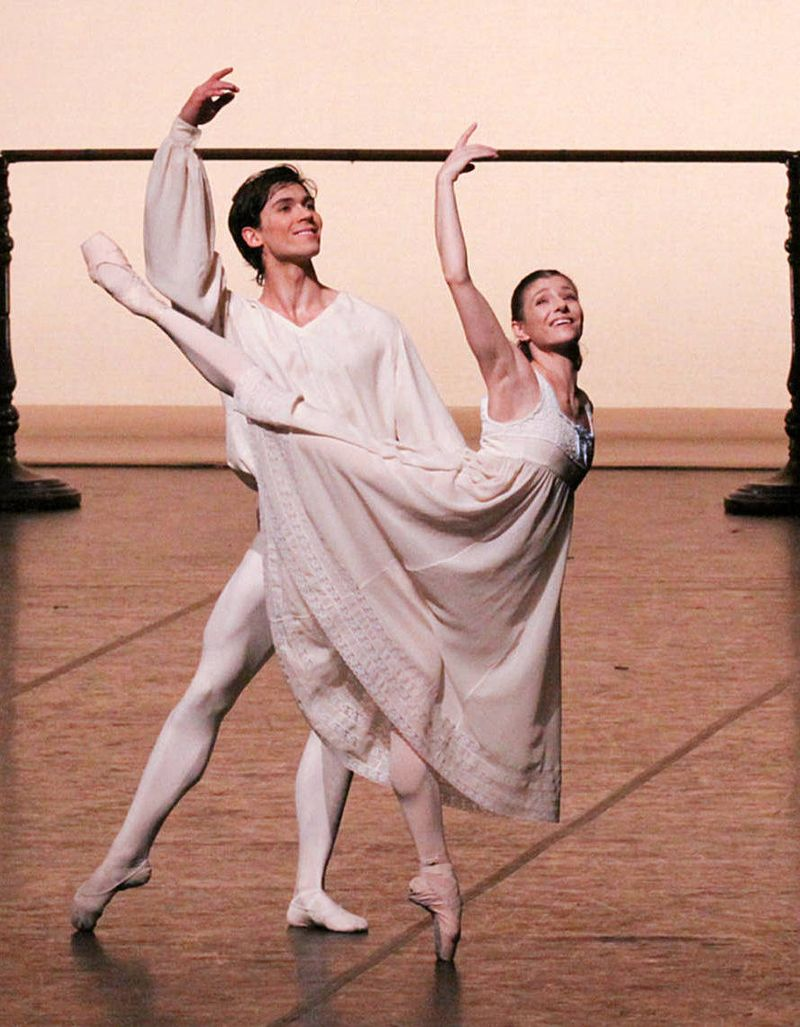 "1. Alexandr Trusch (Günther) and Alina Cojocaru (Marie), ""The Nutcracker"" by John Neumeier, Hamburg Ballet 2014, © Holger Badekow 2014"