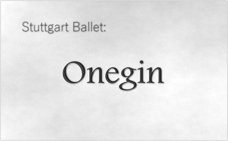 Stuttgart ballet: Onegin