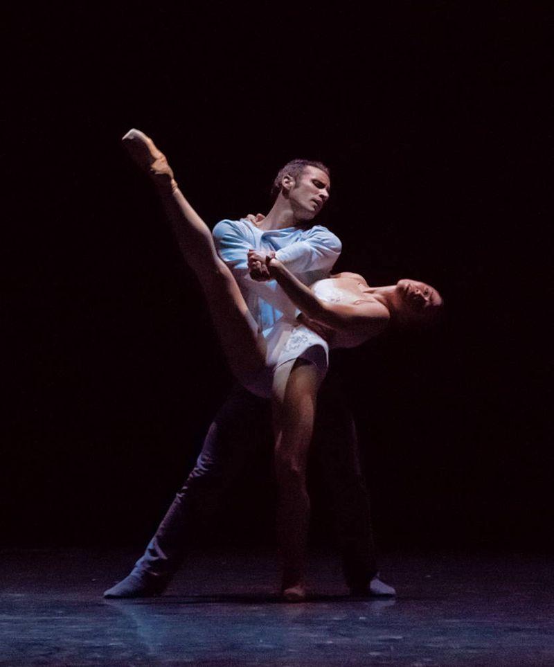 "6. Fabien Voranger (Albrecht) and Courtney Richardson (Giselle), ""Giselle"" by David Dawson, Semperoper Ballet Dresden 2015"