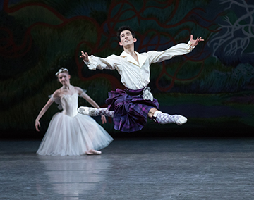 Bournonville's La Sylphide, staged by Peter Martins. Photo credit Paul Kolnik