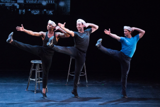 DEMO - Jerome Robbins_American Dance Genius_Amar Ramasar  Tyler Angle  and Daniel Ulbricht in Fancy Free_Photo by Teresa Wood