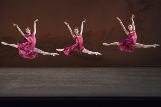New York City Ballet in Jerome Robbins' The Four Seasons. Photo Credit - Paul Kolnik