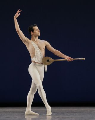 Robert Fairchild in George Balanchine's Apollo. Photo credit Paul Kolnik