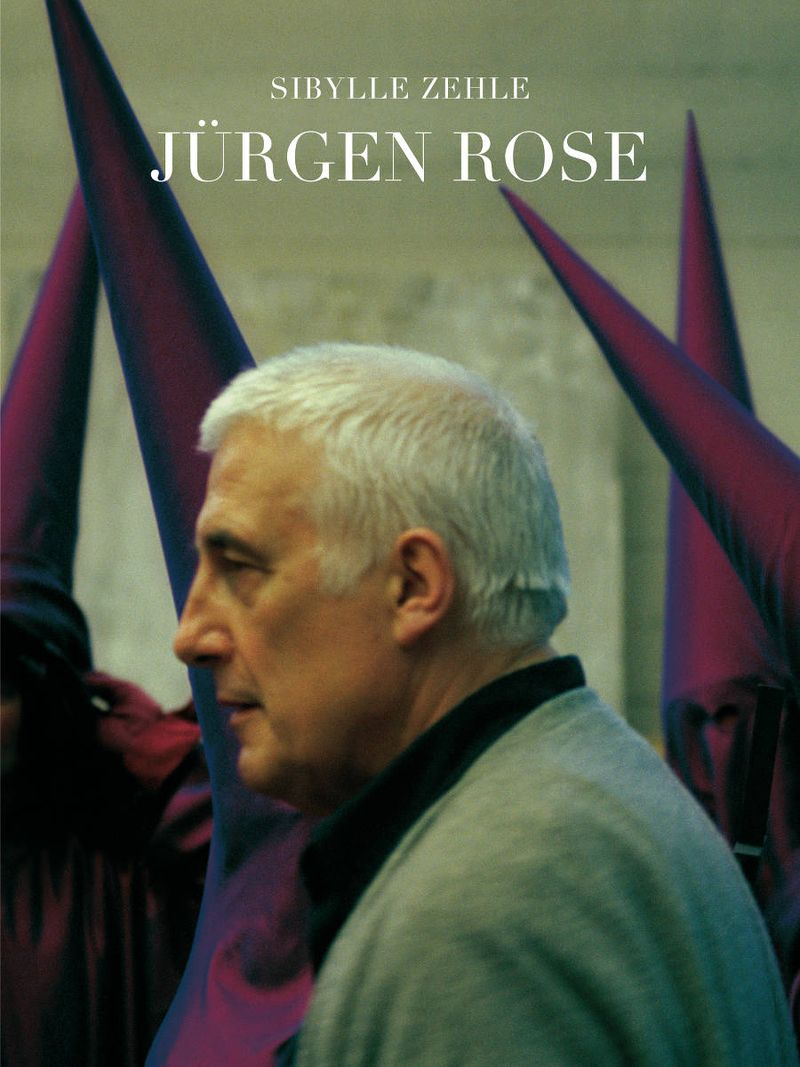 """1. Book cover, """"Jürgen Rose"""" by Sybille Zehle, 2014. The photo shows Jürgen Rose during a rehearsal for """"Don Carlo"""" in Munich 2000 © Corinne Rose and Verlag für Moderne Kunst"""