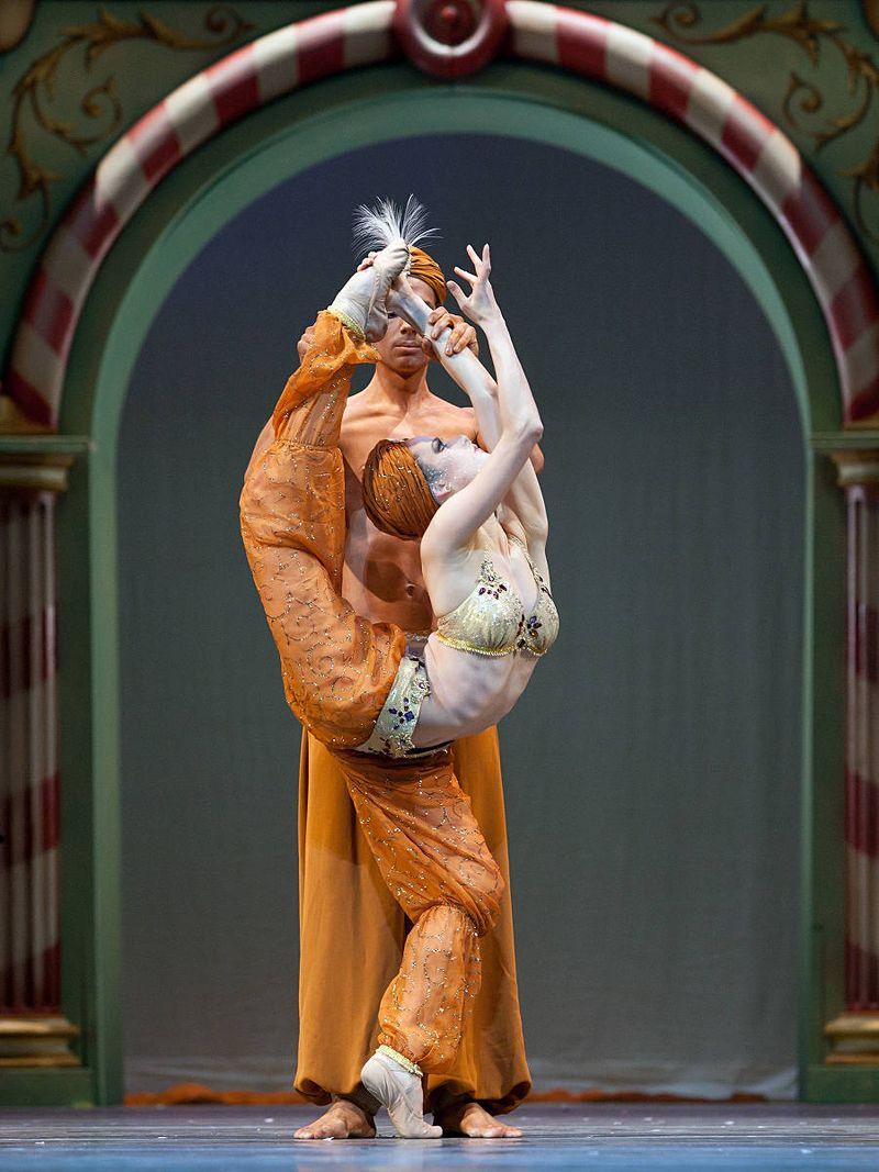 "6. Jenni Schäferhoff and Boris Richir (Oriental Divertissement), ""The Nutcracker"" by Aaron S. Watkin and Jason Beechey, Semperopera Ballet 2014"