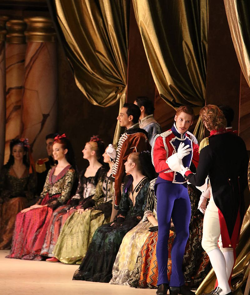 "6. Jonah Cook, Luca Giaccio and ensemble, ""Paquita"" by Marius Petipa and Alexei Ratmansky, Bavarian State Ballet, Munich 2014"