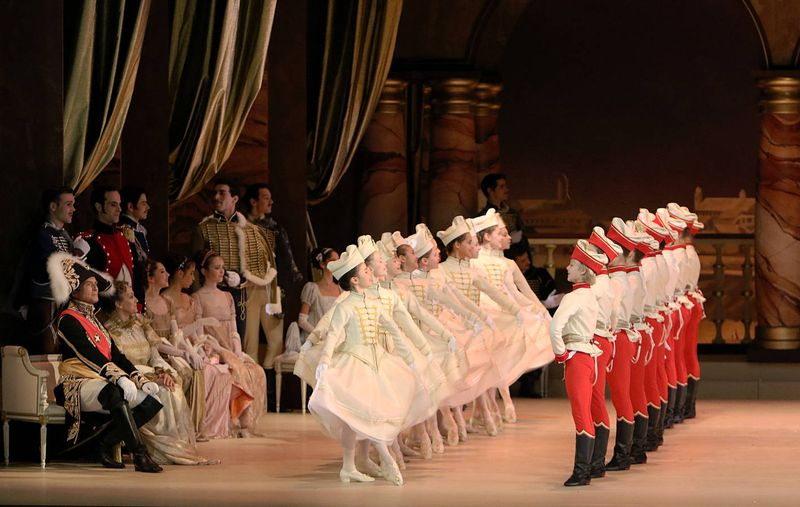 """7. Students of Munich's University of Music and Performing Arts and ensemble, """"Paquita"""" by Marius Petipa and Alexei Ratmansky, Bavarian State Ballet, Munich 2014"""