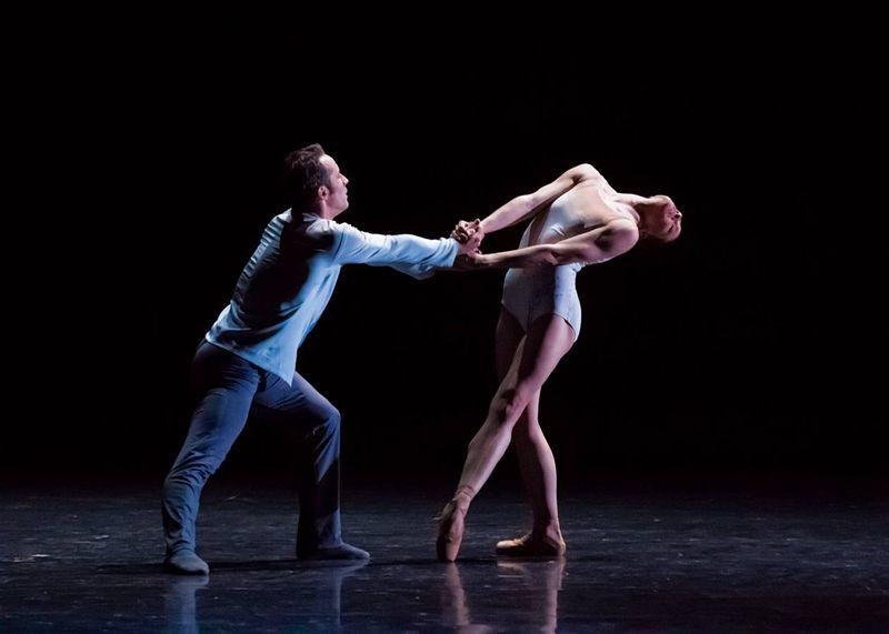 "5. Fabien Voranger (Albrecht) and Courtney Richardson (Giselle), ""Giselle"" by David Dawson, Semperoper Ballet Dresden 2015"