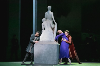 Harrison James, Hannah Fischer and Piotr Stanczyk in The Winter's Tale. Photo by Karolina Kuras, courtesy of The National Ballet of Canada
