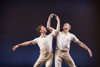 SFDanceworks. Garrett Anderson, Tobin Del Cuore in Concerto Six Twenty-Two by Lar Lubovitch. Photo by Andrew Weeks