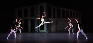 Ricardo Rhodes in Sir Frederick Ashton's Scenes de ballet - Photo Frank Atura