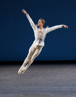 Chase Finlay in George Balanchine's Divertimento No. 15. Photo credit - Paul Kolnik