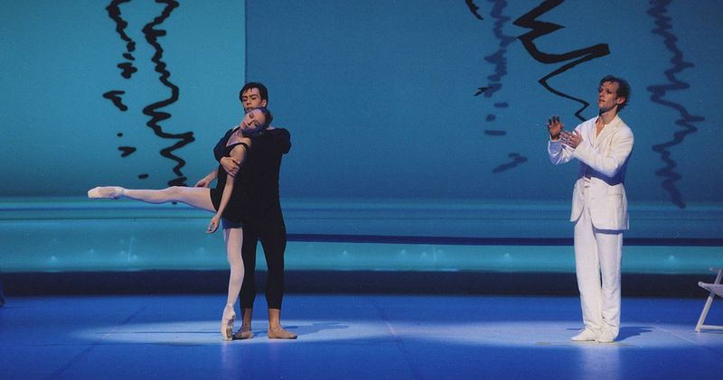"3. Silvia Azzoni (Aschenbach's Concepts), Alexandr Riabko (Aschenbach's Concepts) and Llyod Riggins (Gustav von Aschenbach), ""Death in Venice"" by John Neumeier, Hamburg Ballet 2014"