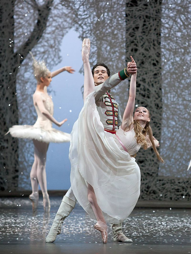 "5. Anna Merkulova (Marie, adult), István Simon (Prince) and ensemble, ""The Nutcracker"" by Aaron S. Watkin and Jason Beechey, Semperopera Ballet 2014"