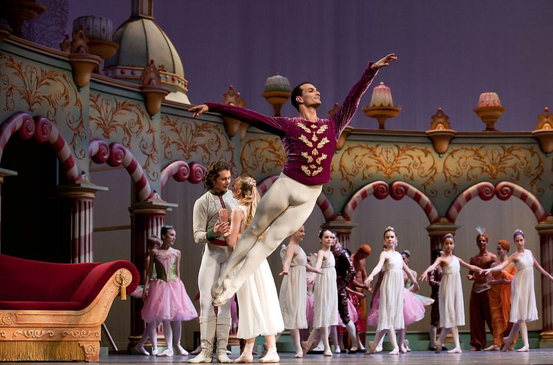 "9. Jiří Bubeníček (Consort of the Sugar Plum Fairy), Anna Merkulova (Marie, adult), István Simon (Prince) and ensemble, ""The Nutcracker"" by Aaron S. Watkin and Jason Beechey, Semperopera Ballet 2014"