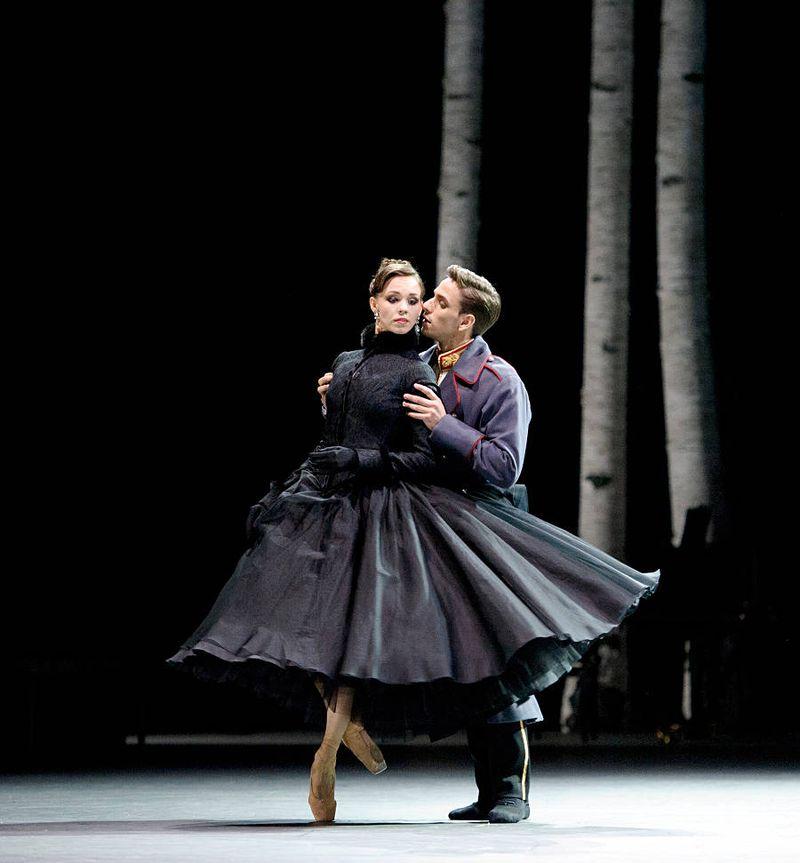 "1. Viktorina Kapitonova (Anna Karenina) and Denis Vieira (Count Alexei Vronsky), ""Anna Karenina"" by Christian Spuck, Ballet Zurich 2014"