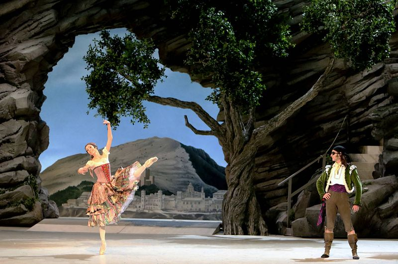 "1. Daria Sukhorukova (Paquita) and Cyril Pierre (Inigo), ""Paquita"" by Marius Petipa and Alexei Ratmansky, Bavarian State Ballet, Munich 2014"