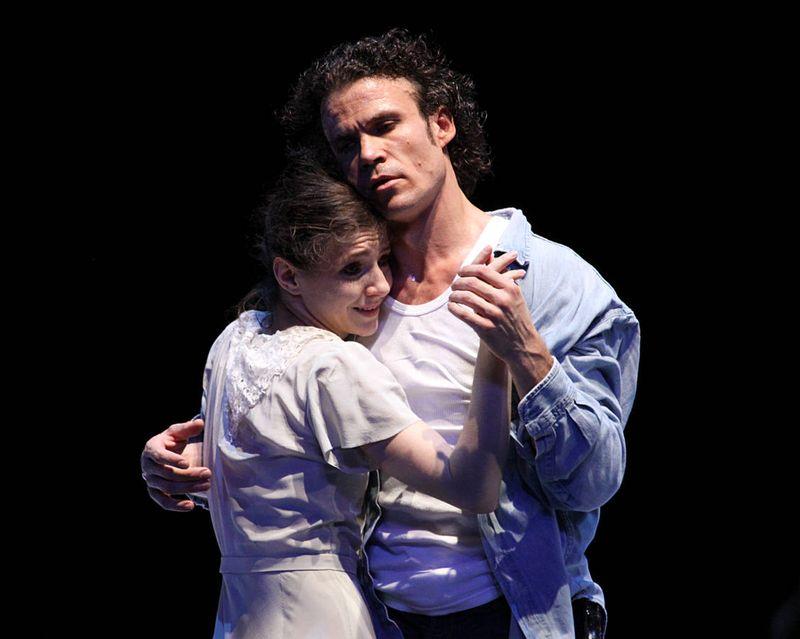 "1. Alina Cojocaru (Julie) and Carsten Jung (Liliom), ""Liliom"" by John Neumeier, Hamburg Ballet 2015"