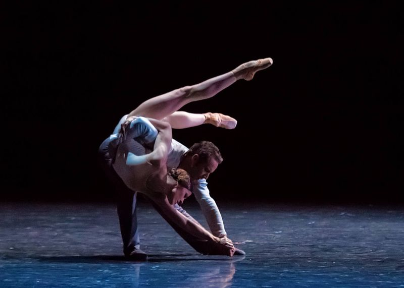 "7. Courtney Richardson (Giselle) and Fabien Voranger (Albrecht), ""Giselle"" by David Dawson, Semperoper Ballet Dresden 2015"