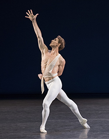 Adrian Danchig-Waring in George Balanchine's Apollo. Photo credit Paul Kolnik