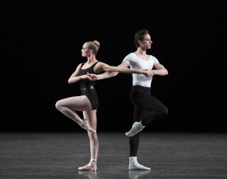 Lydia Wellington and Andrew Scordato in The Four Temperaments_Photo credit - Paul Kolnik