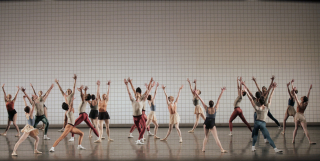 New York City Ballet in Jerome Robbins' Glass Pieces. Photo Credit - Paul Kolnik
