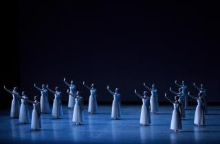 New York City Ballet in George Balanchine's Serenade. Photo Credit Paul Konik (1)